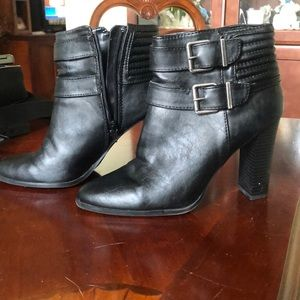 Size 9 black Express booties